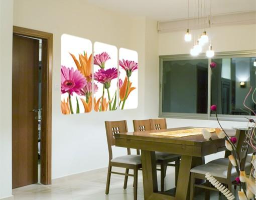 Produktfoto Selbstklebendes Wandbild Flower Melody Triptychon I