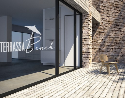 Produktfoto Fensterfolie - Fenstertattoo No.UL497 Terassa Beach - Milchglasfolie