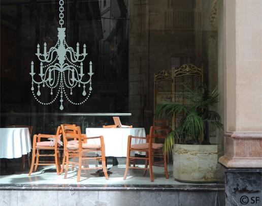 Produktfoto Fensterfolie - Fenstertattoo No.SF811 Kronleuchter - Milchglasfolie