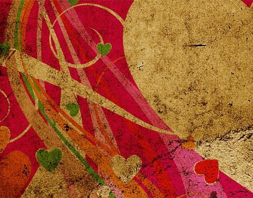 Produktfoto Selbstklebendes Wandbild Lava Love