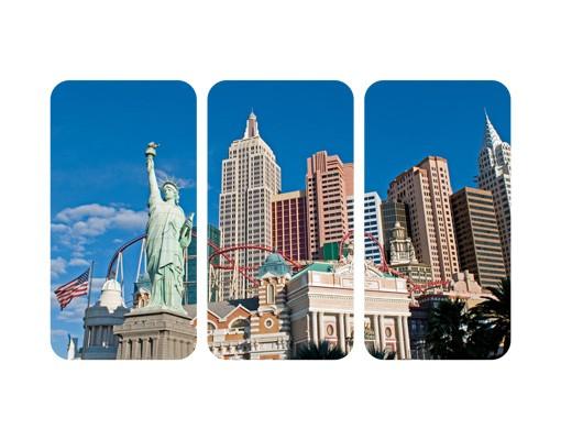 Produktfoto Selbstklebendes Wandbild Las Vegas Triptychon
