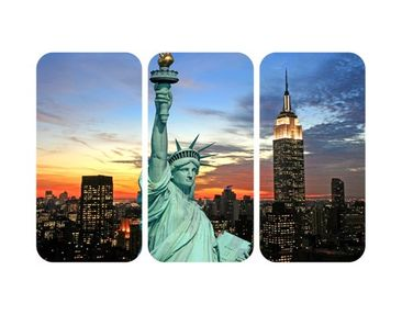 Product picture Wall Mural New York At Night Triptychon