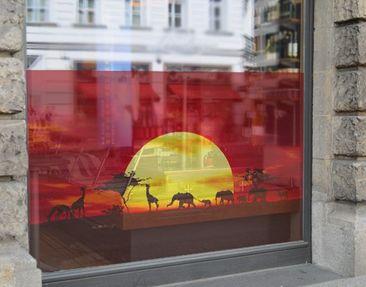 Produktfoto Fensterfolie - Sichtschutz Fenster No.CG80 Sunset Caravan - Fensterbilder