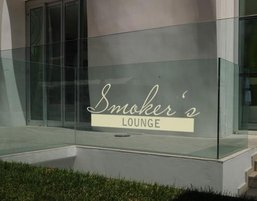 Produktfoto Fensterfolie - Fenstertattoo No.UL511 Smokers Lounge - Milchglasfolie