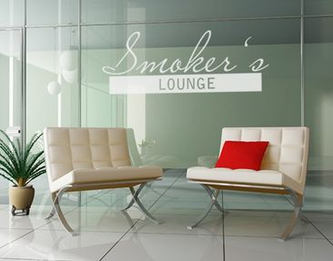 Produktfoto Fensterfolie - Fenstertattoo No.UL511 Smokers Lounge - Milchglasfolie
