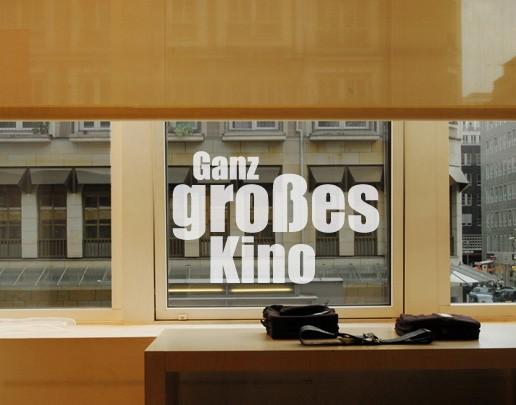 Produktfoto Fensterfolie - Fenstertattoo No.UL520 Ganz großes Kino - Milchglasfolie