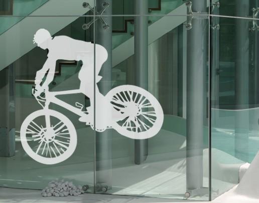 Produktfoto Fensterfolie - Fenstertattoo No.UL523 Biker - Milchglasfolie