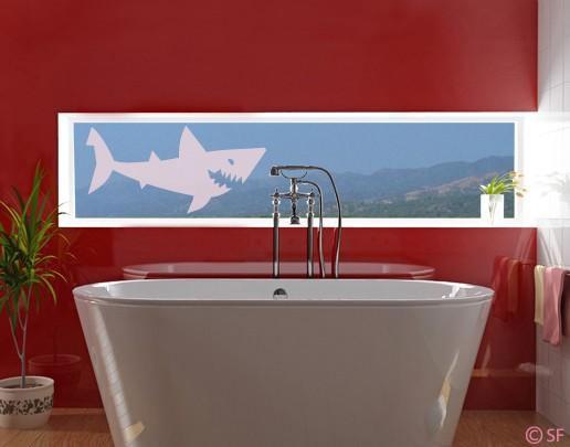Produktfoto Fensterfolie - Fenstertattoo No.SF807 Shark - Milchglasfolie