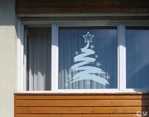 Produktfoto Fensterfolie - Fenstertattoo No.SF838 XMas Tree - Milchglasfolie