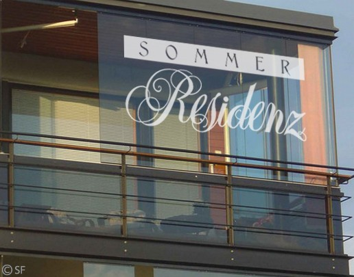 Produktfoto Fensterfolie - Fenstertattoo No.SF865 Sommerresidenz - Milchglasfolie