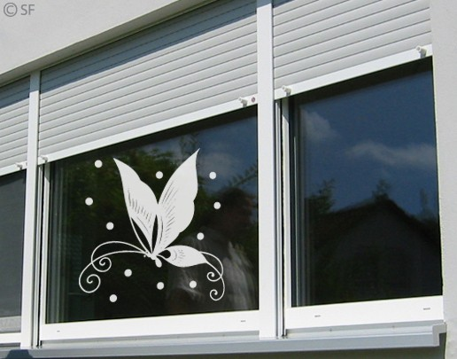 Produktfoto Fensterfolie - Fenstertattoo No.SF872 Chinafly - Milchglasfolie