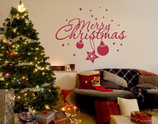 Produktfoto Wandtattoo Sprüche - Wandworte No.UL537 Merry Christmas