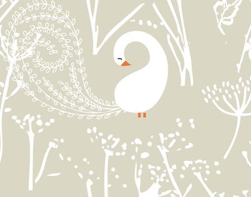 Produktfoto Selbstklebendes Wandbild Swan Lake
