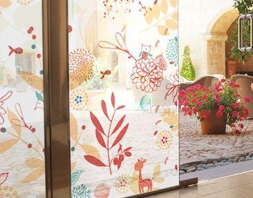 Produktfoto Fensterfolie - Sichtschutz Fenster Spring Garden - Fensterbilder