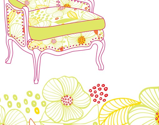 Produktfoto Selbstklebendes Wandbild Flower Lounge