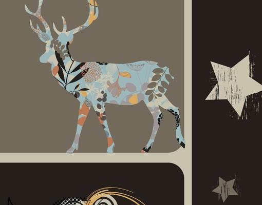 Produktfoto Selbstklebendes Wandbild Deer Nights