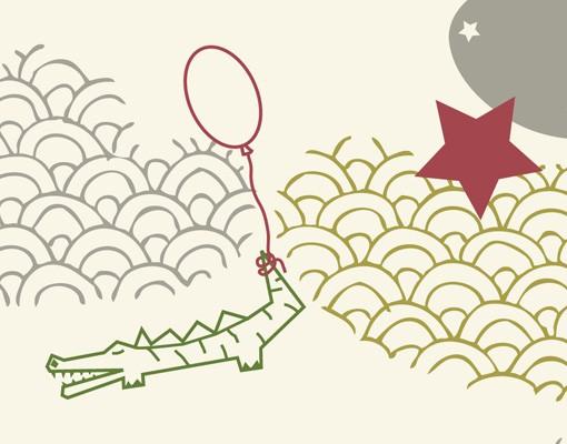 Produktfoto Selbstklebendes Wandbild Sky Crocodiles