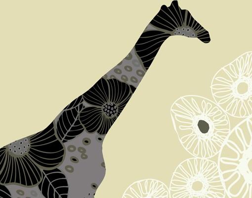 Produktfoto Selbstklebendes Wandbild Retro Giraffe