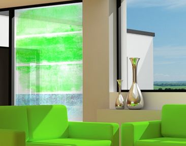 Produktfoto Window Mural Colour Harmony Green