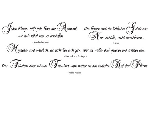 Produktfoto Wandtattoo Zitate - Wandzitate No.JO39 Just Feminine - Set