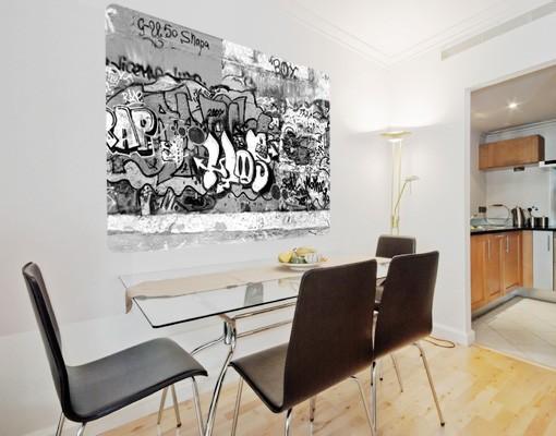 Produktfoto Selbstklebendes Wandbild Graffiti Art
