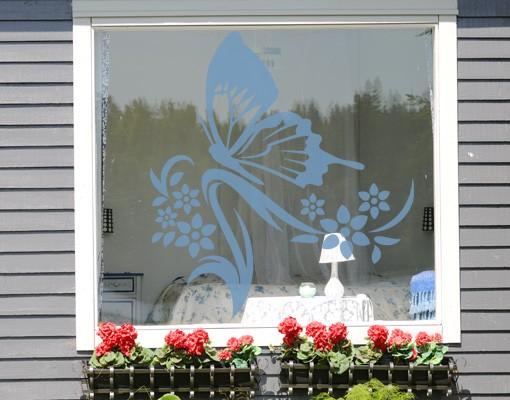 Produktfoto Fensterfolie - Fenstertattoo - Fensterdeko - No.9 Schmetterling - Fensterbilder Frühling