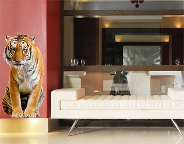 Produktfoto Wall Decal No.272 Sitting Tiger