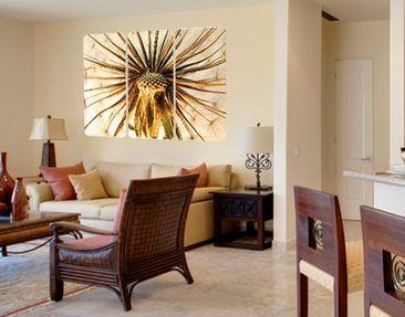 Produktfoto Selbstklebendes Wandbild Dandelion Close Up Triptychon