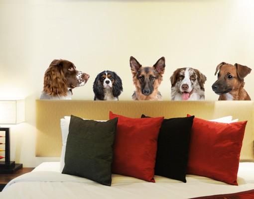 Produktfoto Wandtattoo Hund No.275 5 Freunde