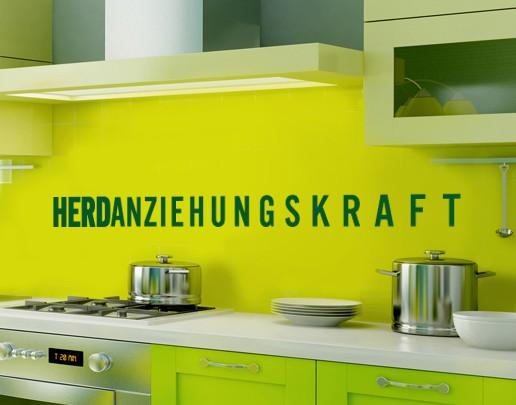 Produktfoto Wandtattoo Sprüche - Wandworte No.UL565 Herdanziehungskraft