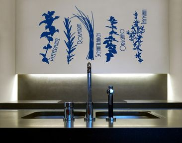 Product picture Wall Decal No.UL566 Kitchen Herbage