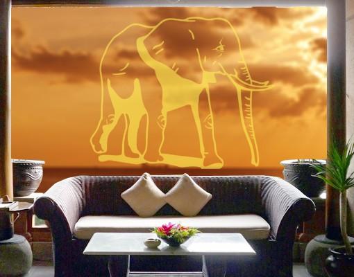 Produktfoto Fensterfolie - Fenstertattoo No.5 Elefant - Milchglasfolie