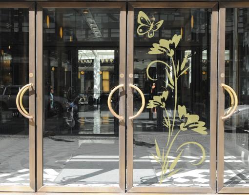 Produktfoto Fensterfolie - Fenstertattoo - Fensterdeko - No.80 Blümchen - Fensterbilder Frühling