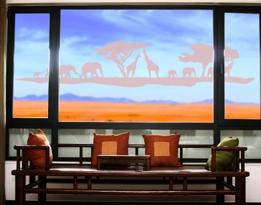 Produktfoto Fensterfolie - Fenstertattoo No.TM13 Safari II - Milchglasfolie