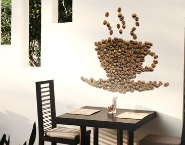 Produktfoto Wall Decal No.294 Coffee Beans Cup