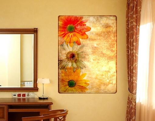 Produktfoto Selbstklebendes Wandbild Vintage Flowermix