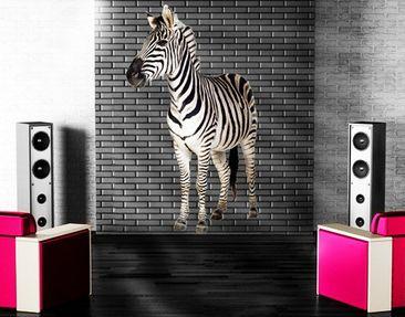 Produktfoto Wandtattoo Tiere No.293 Lächelndes Zebra