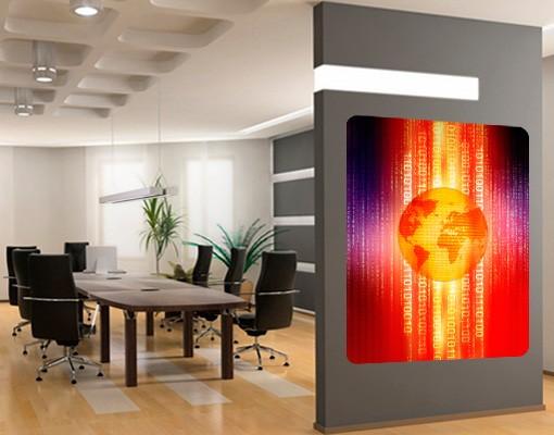 Produktfoto Selbstklebendes Wandbild Digital Planet