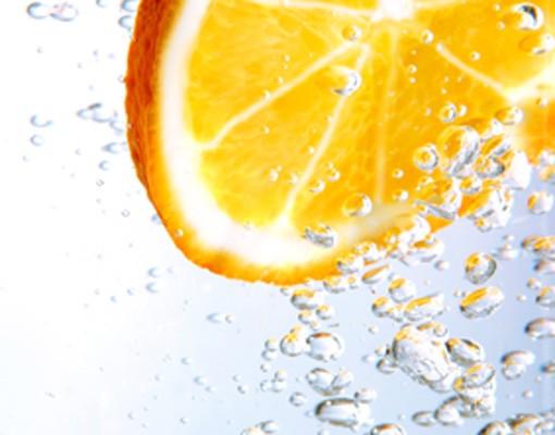 Produktfoto Selbstklebendes Wandbild Splash Orange