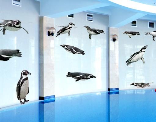 Produktfoto Wandtattoo Vögel No.391 Humboldt-Penguin Set