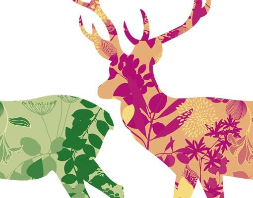 Produktfoto Fensterfolie - Fenstersticker No.407 Two Decostyle Deers Set - Fensterbilder