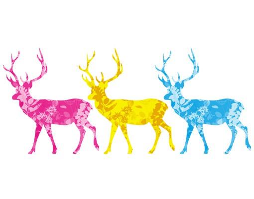 Produktfoto Wandtattoo No.408 Three Decostyle Deers Set CMYK