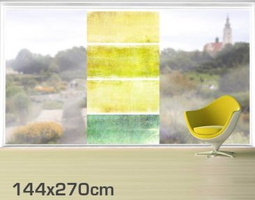 Product picture XXL Window Mural Colour Harmony Yellow