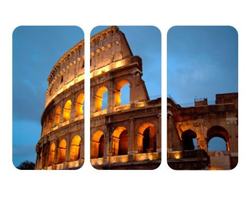 Produktfoto Selbstklebendes Wandbild Colosseum at Night Triptychon