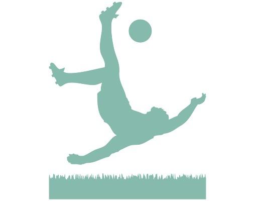 Produktfoto Fensterfolie - Fenstertattoo No.1033 Fußballer in Aktion - Milchglasfolie