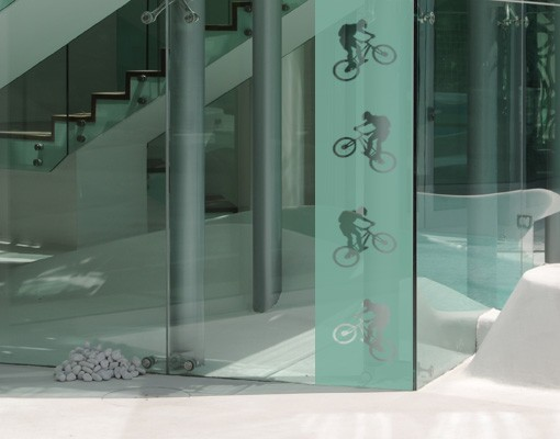 Produktfoto Fensterfolie - Sichtschutzfolie No.374 Bike III - Milchglasfolie