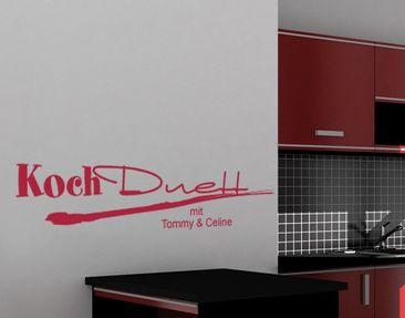 Product picture Wall Decal No.UL597 Wunschtext KochDuett