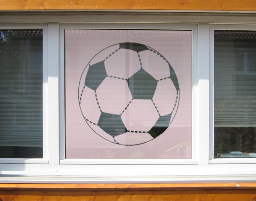 Produktfoto Fensterfolie - Sichtschutzfolie No.UL1 Fussball XXL II - Milchglasfolie
