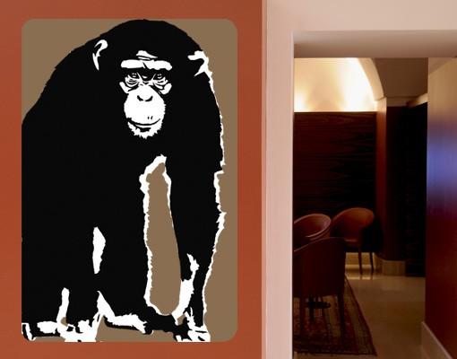 Produktfoto Selbstklebendes Wandbild No.TA10 Schimpanse