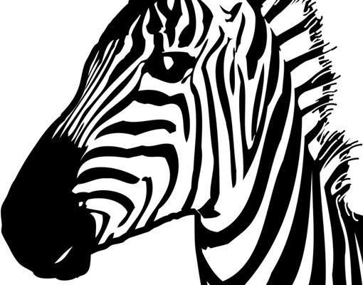 Produktfoto Fensterfolie - Fenstertattoo No.TA7 Zebra - Milchglasfolie
